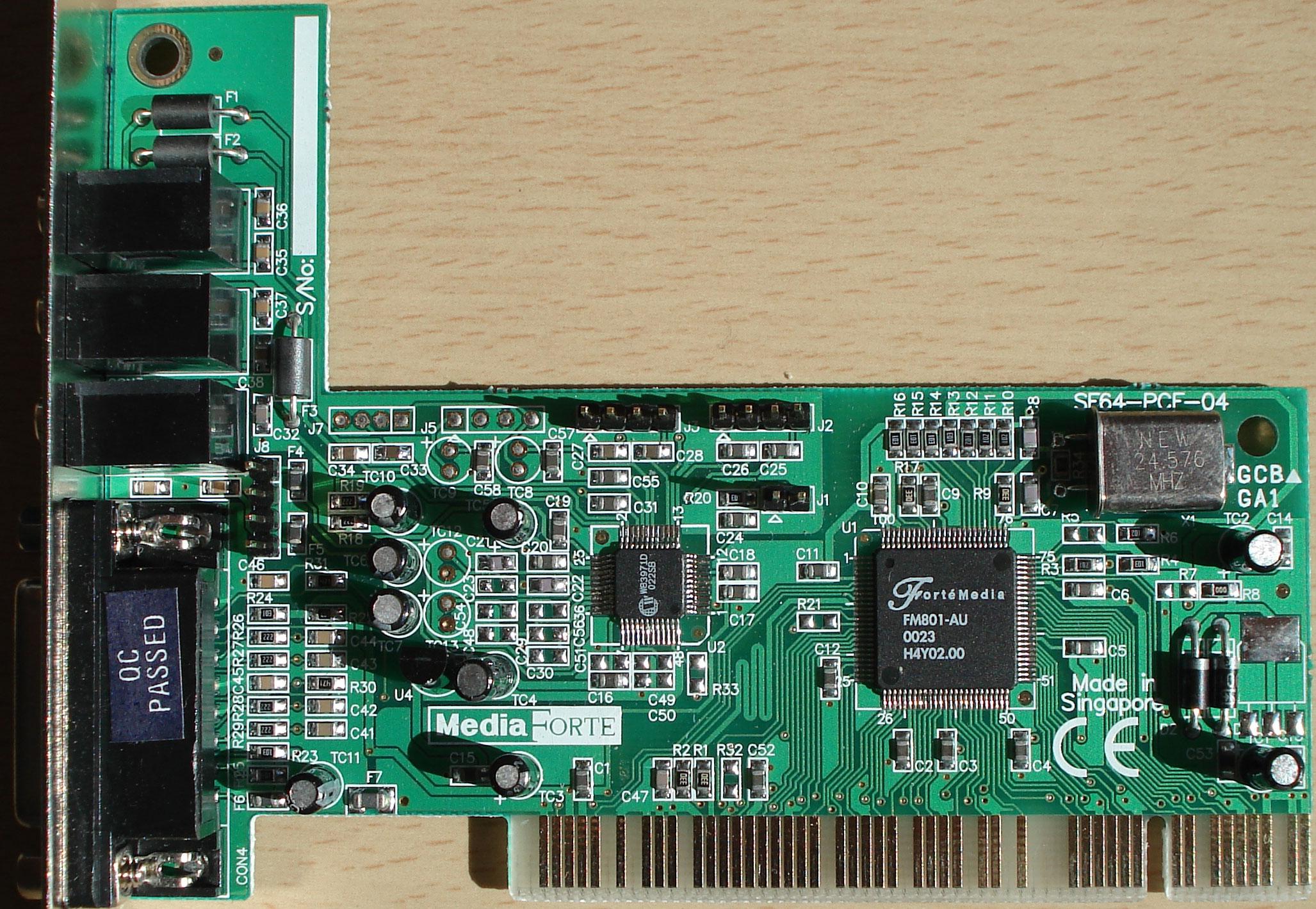FORTEMEDIA FM801 AU WINDOWS XP DRIVER DOWNLOAD