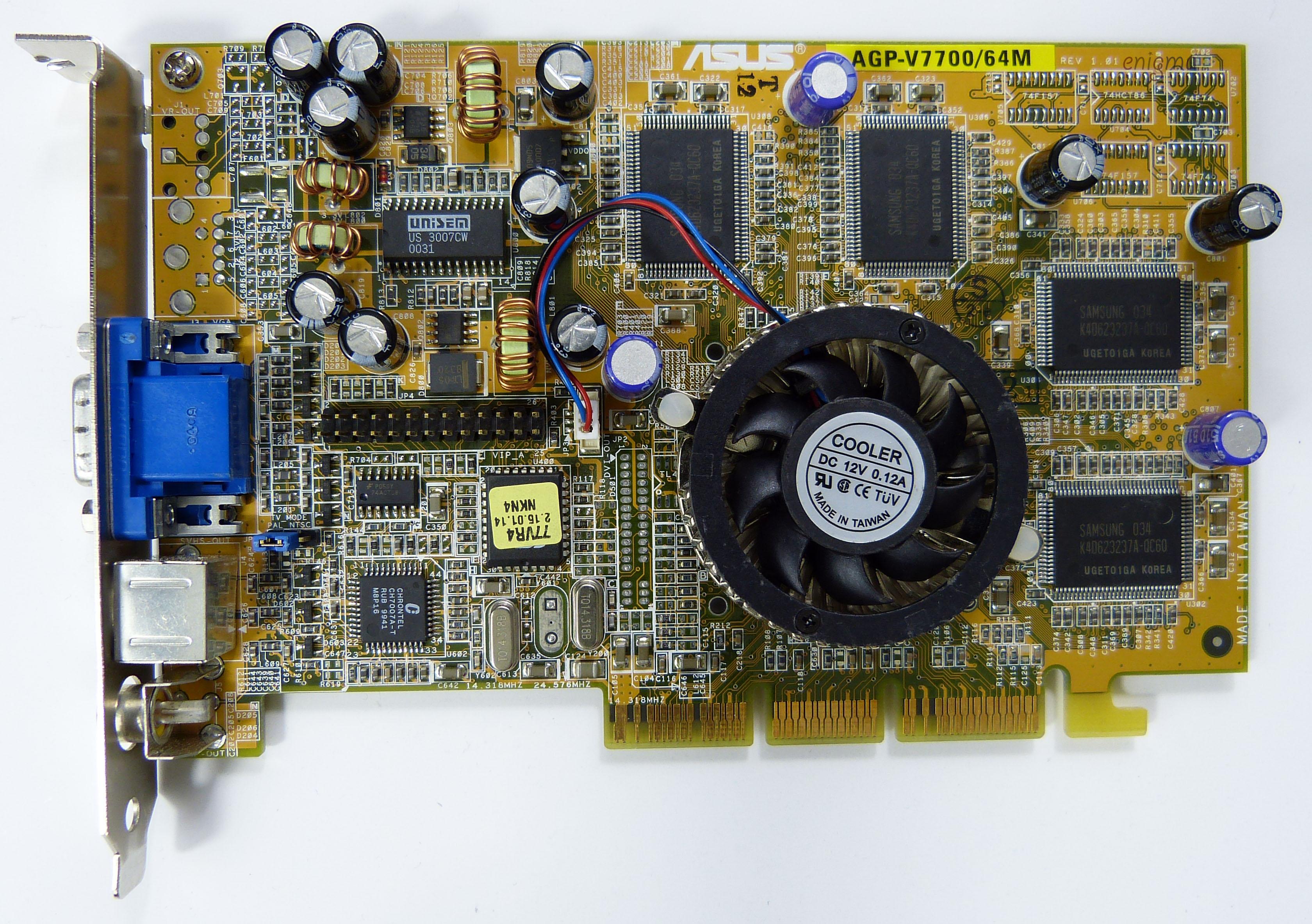 New Drivers: Asus AGP-V7700/64M