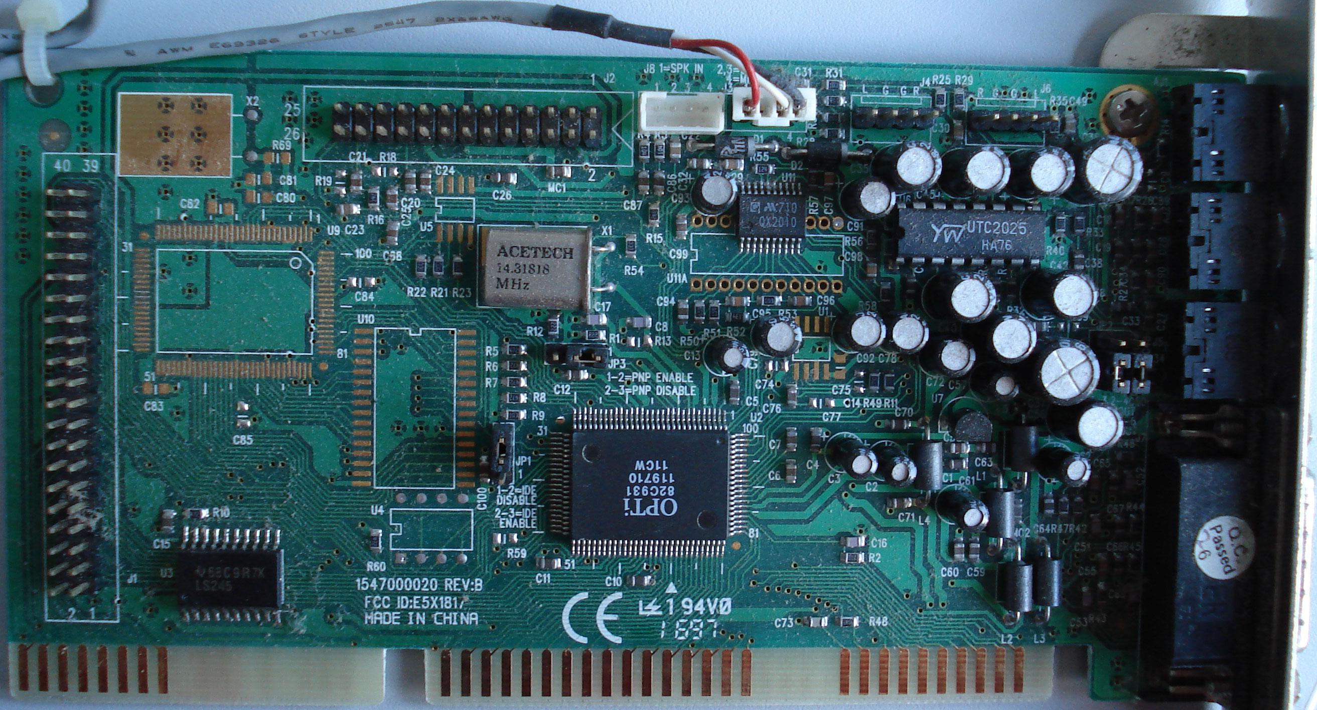 OPTI 82C931 SOUND CARD DRIVER FOR MAC
